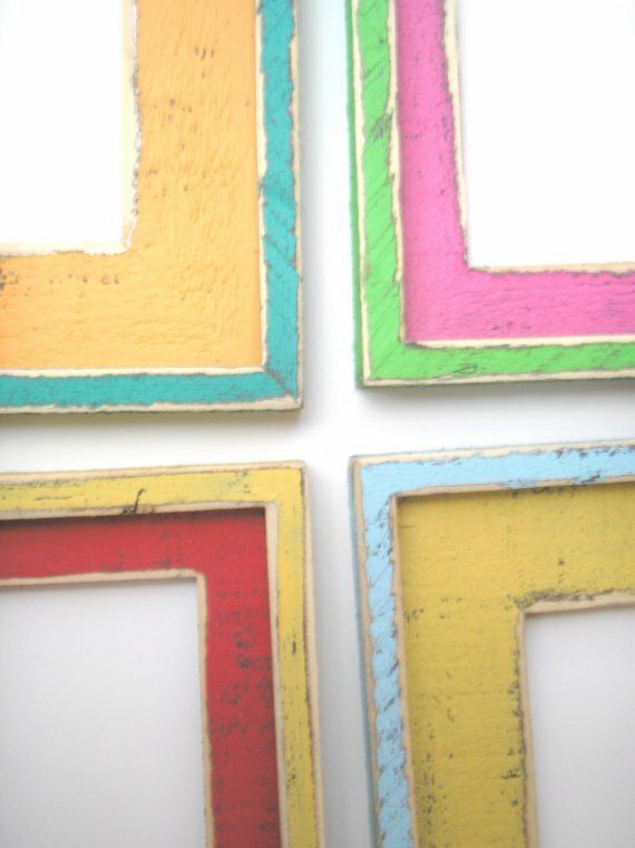 Two distressed picture frames package The \