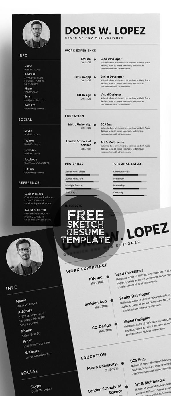 21 Fresh Free Resume Templates with Cover Letter | Resume ...