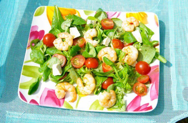 salade avec crevettes