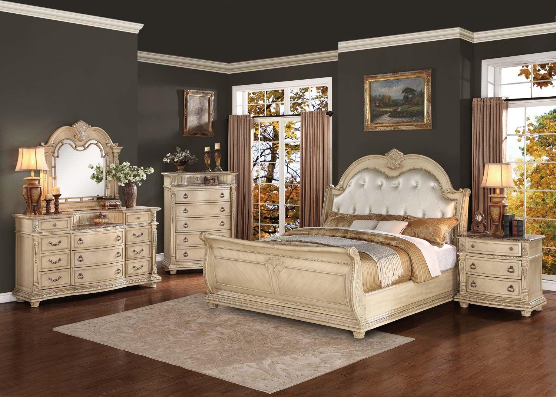 Best Homelegance Palace Ii Upholstered Bedroom Set Antique 400 x 300