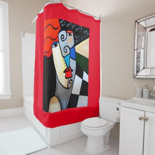 PICASSO BY NORA SHOWER CURTAIN Shower Curtains Wall Murals Picasso Wallpaper