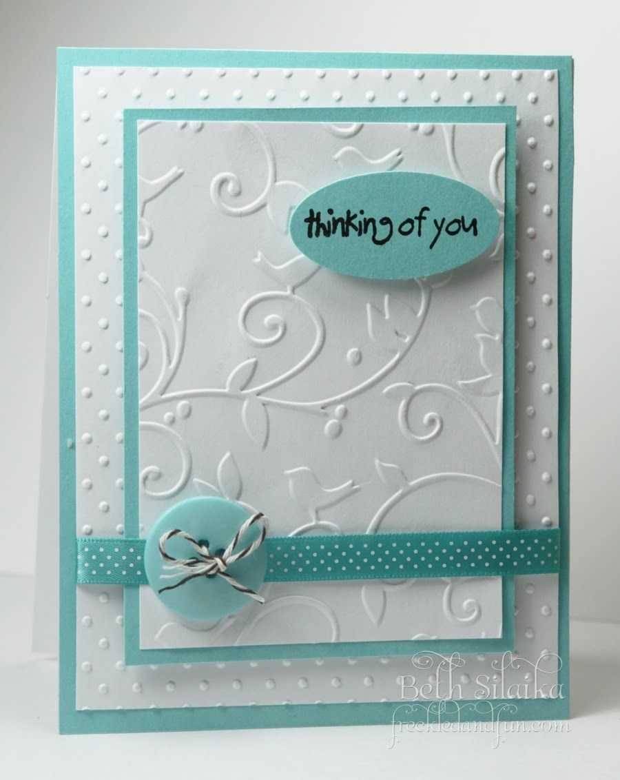 Wow Beautiful And Simple Love The Layers Of Embossed Paper