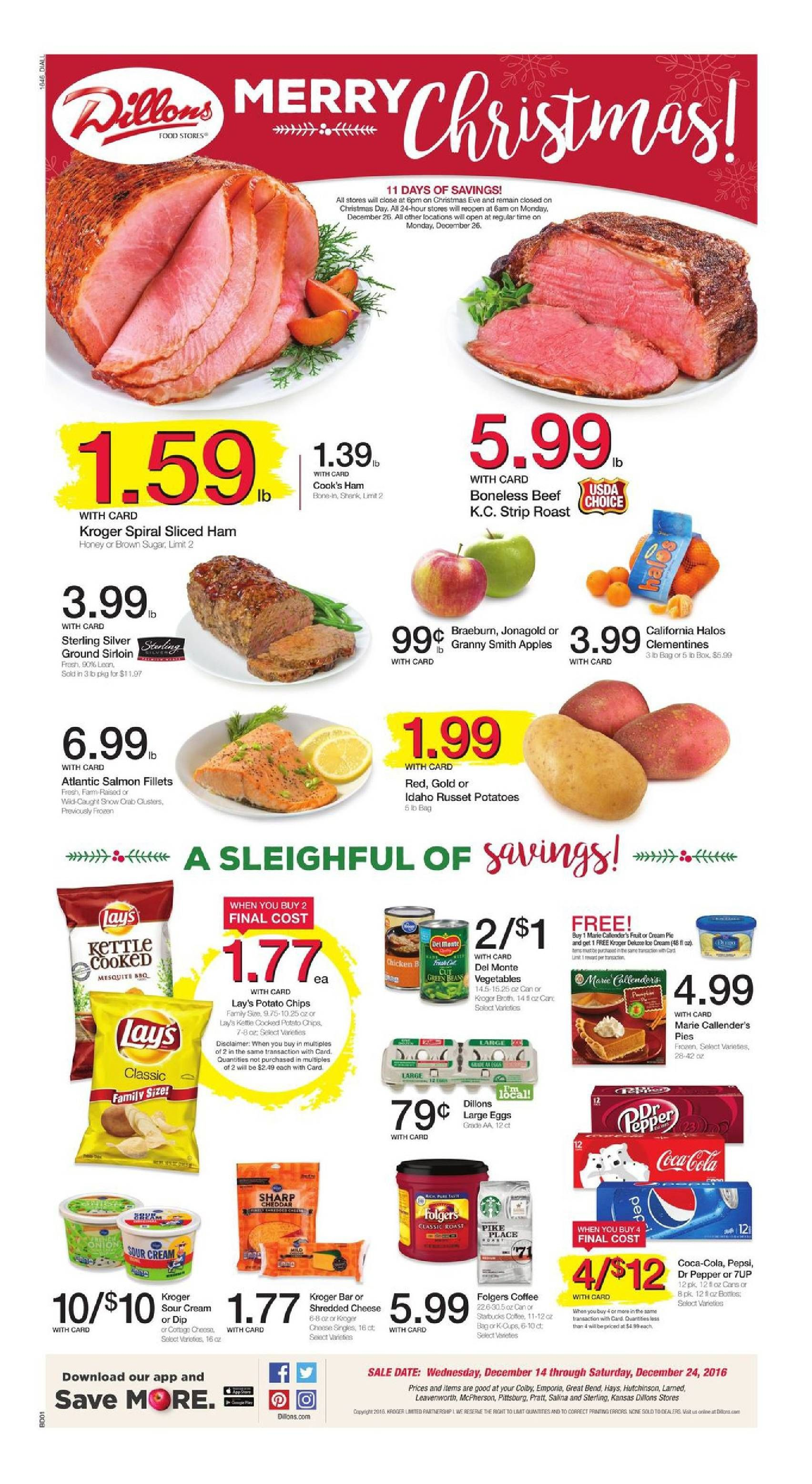 Dillons Weekly Ad December 14 - 24, 2016 - http://www.olcatalog.com ...
