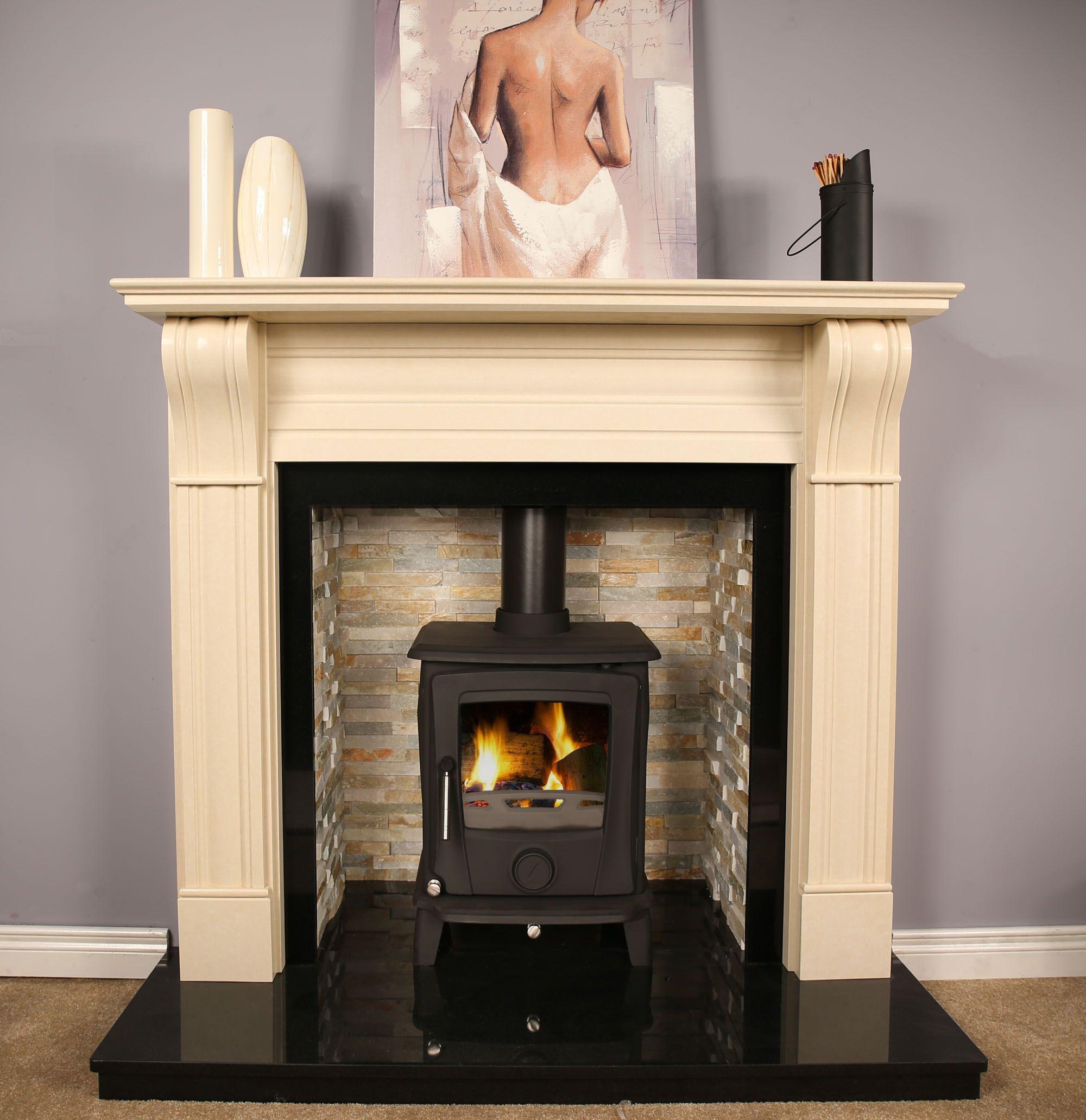 cream marble fire surround round designs