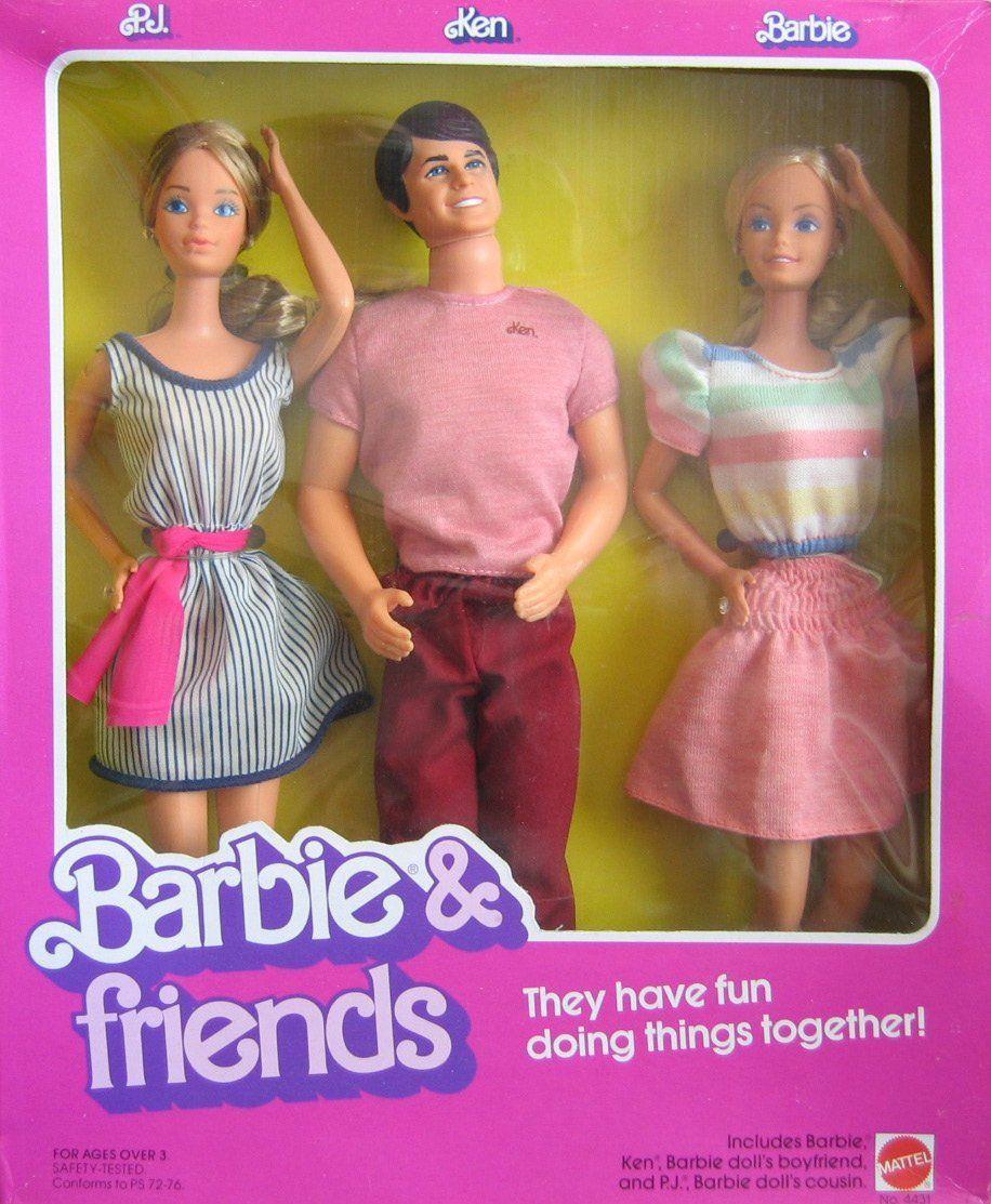 Amazon.com: Vintage Barbie & Friends Doll Set w P.J., Ken ...