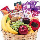 Fruit, Goodies, and Gourmet Basket