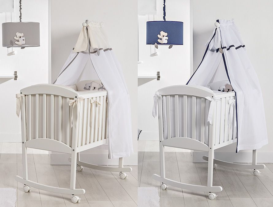 babywiege stubenwagen mit himmel babyzimmer koala. Black Bedroom Furniture Sets. Home Design Ideas