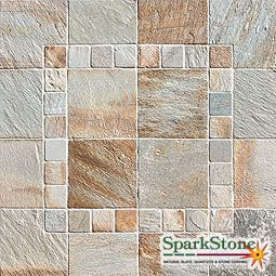 Golden Ray Tile Gauged Quartzite Natural Cleft 12x12 Gauged 4x4 6x12 8x8 8x16 12x12 Touch 12x12 Tumbled 4x4 6x6 Natural Stone Tile Stone Tiles Stone