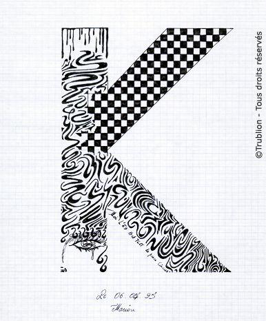 Alphabet r alis la plume calligraphique chaque lettre est trac e sur un format a4 p riode de - K en majuscule ...