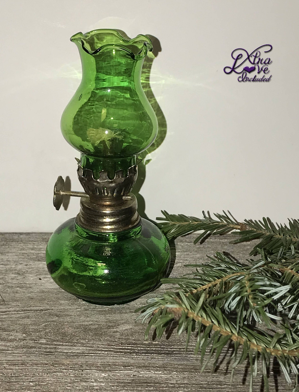 mid Century Vintage miniature oil kerosine lamp unused circa