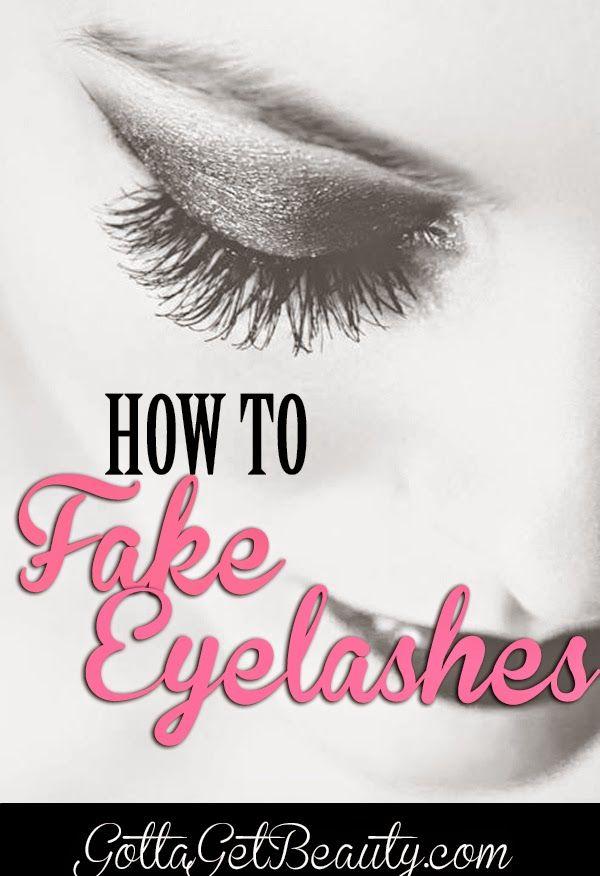 How to FAKE EYELASHES. | Best advice, tips EVERRR!! GottaGetBeauty.com