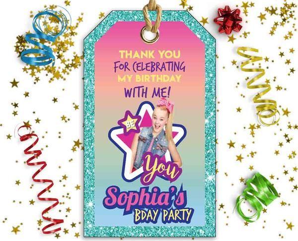 jojo siwa printable favor bag tags customized in 2018 jojo party