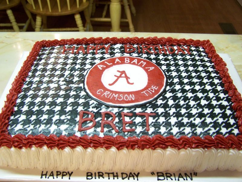 Incredible Alabama Football Houndstooth Cake Alabama Football Alabama Personalised Birthday Cards Veneteletsinfo