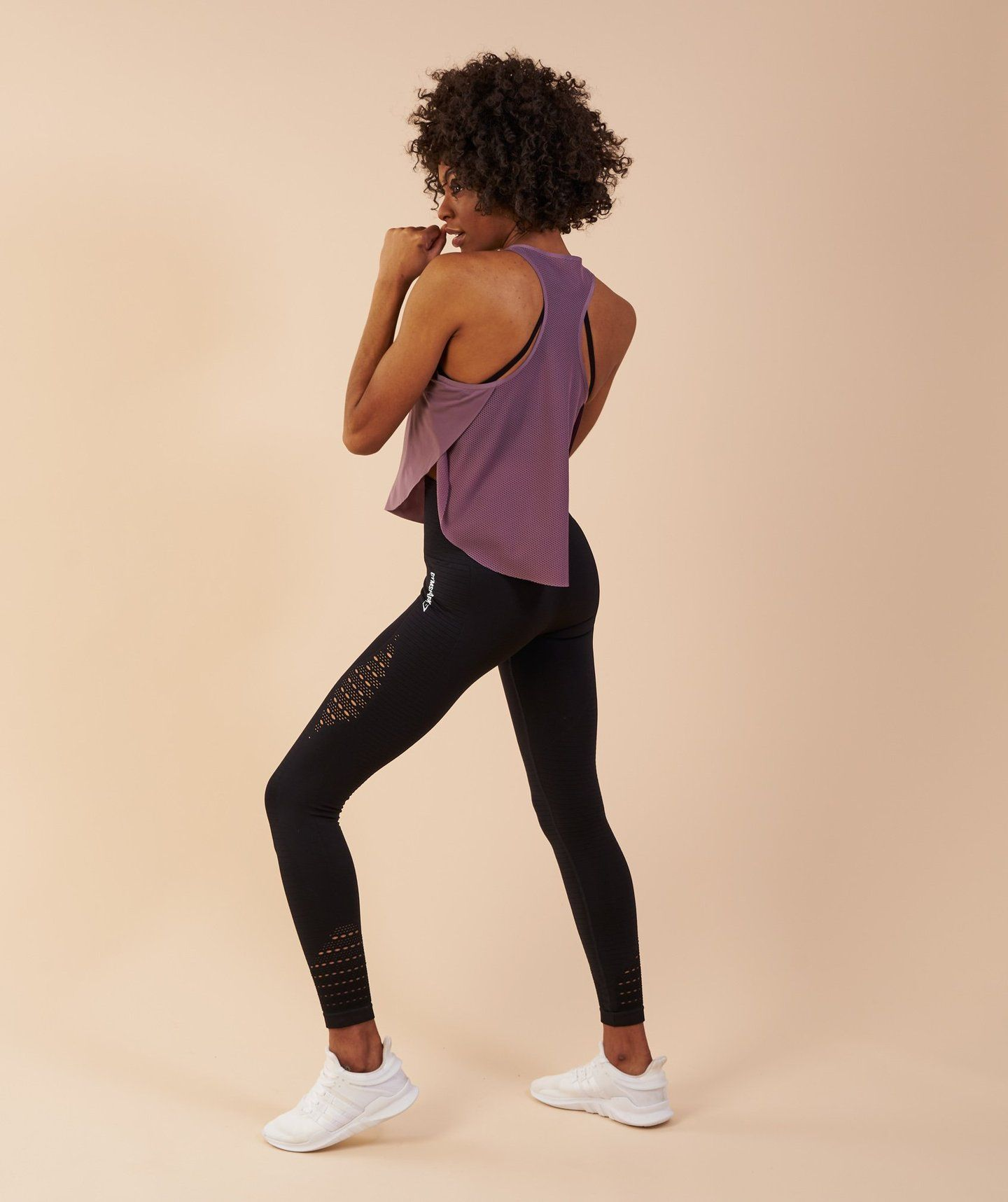 54611d303ee55 Gymshark Aptitude Cropped Vest - Purple Wash 2 | Fitness Clothing ...