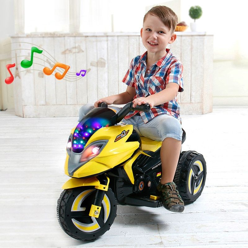Children's Electric Scooter Baby Rechargeable Three