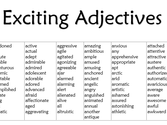 Pin By Misscresources On Writing Adjective Words Adjectives List Of Adjectives
