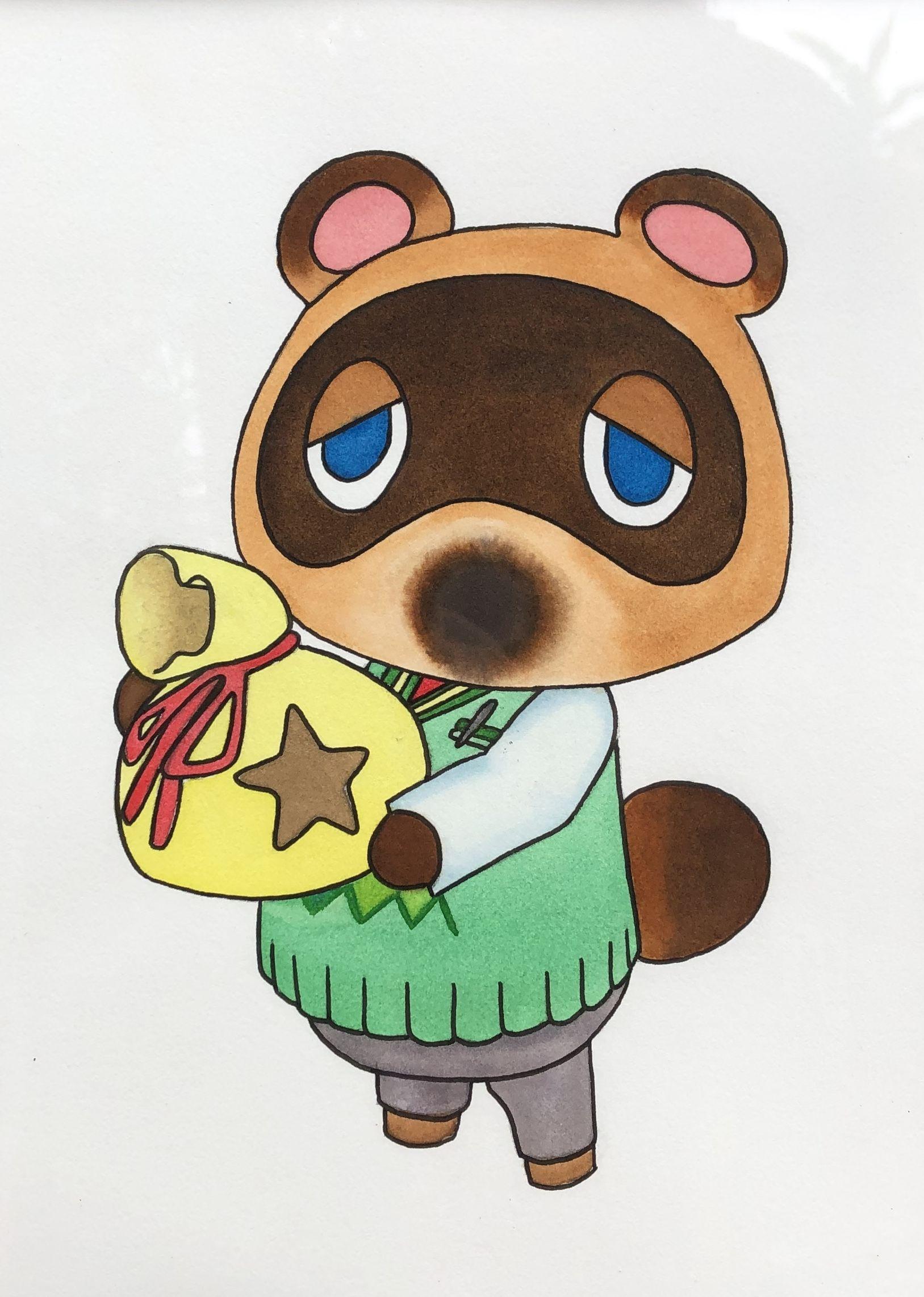 Fanart Fine Art Print Tom Nook Animal Crossing New Horizon Soe Ink
