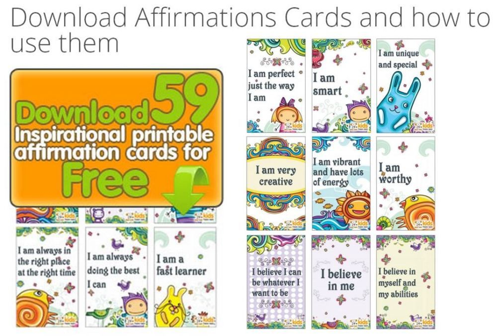 It is a picture of Vibrant Affirmation Cards Printable