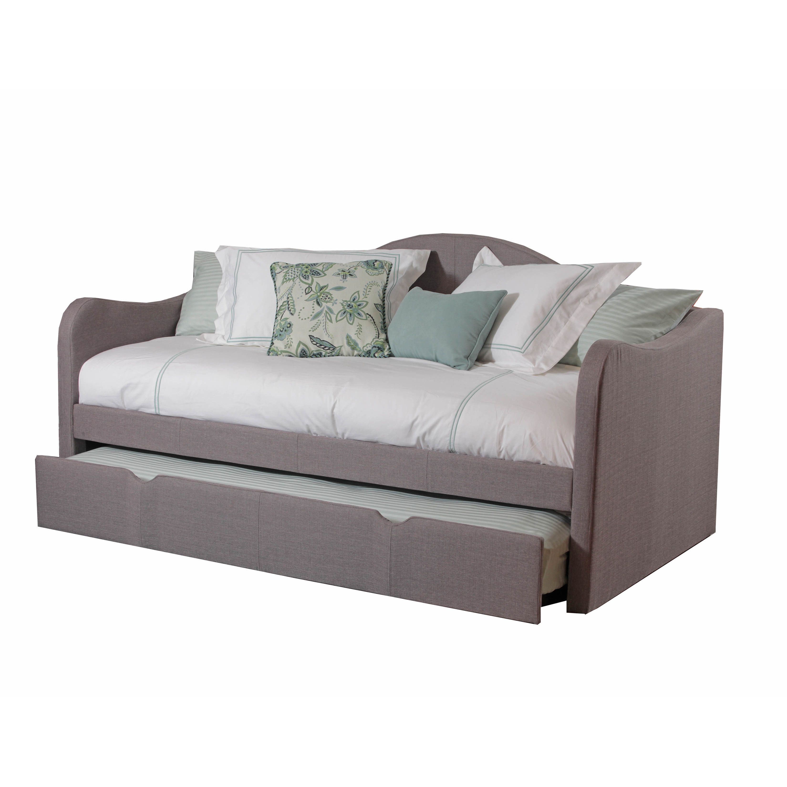 Daybed with trundle full size powell seraphina upholstered day bed  bedrooms daybed and room