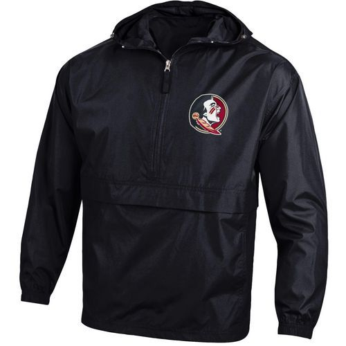 Champion Men's Florida State University Packable Jacket (Black, Size Large) - NCAA Licensed Product, NCAA Men's Fleece/Jackets at Academy Sports