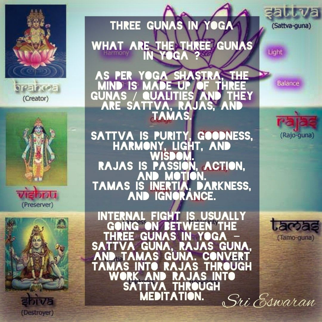 Three Gunas In Yoga What Are The Three Gunas In Yoga ? As