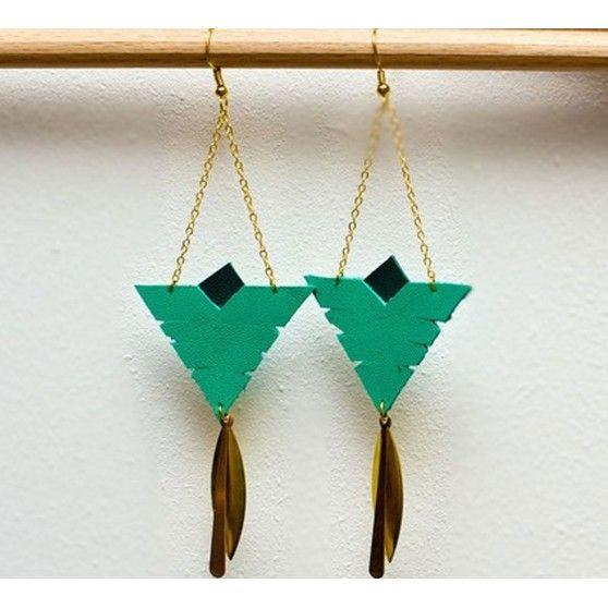 Boucles d'oreilles Roxane - Vert d'eau