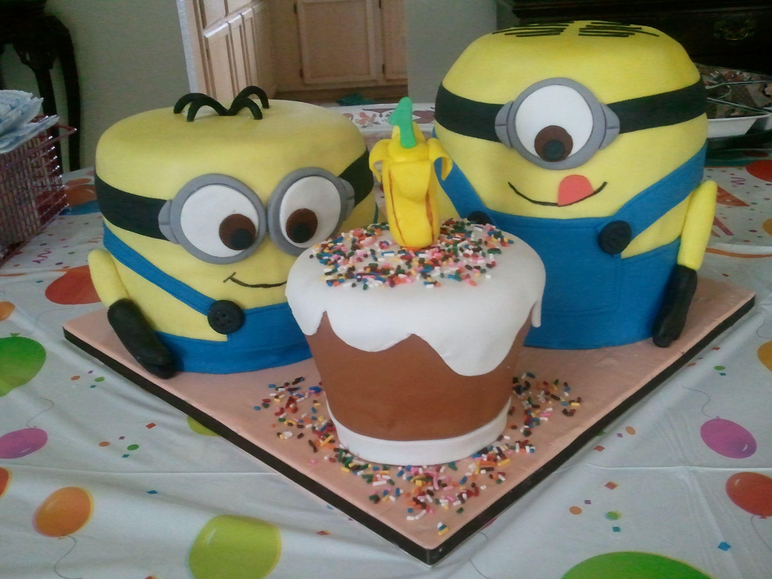 Minions Despicable Me Minion 1st Birthday Cakes cakes