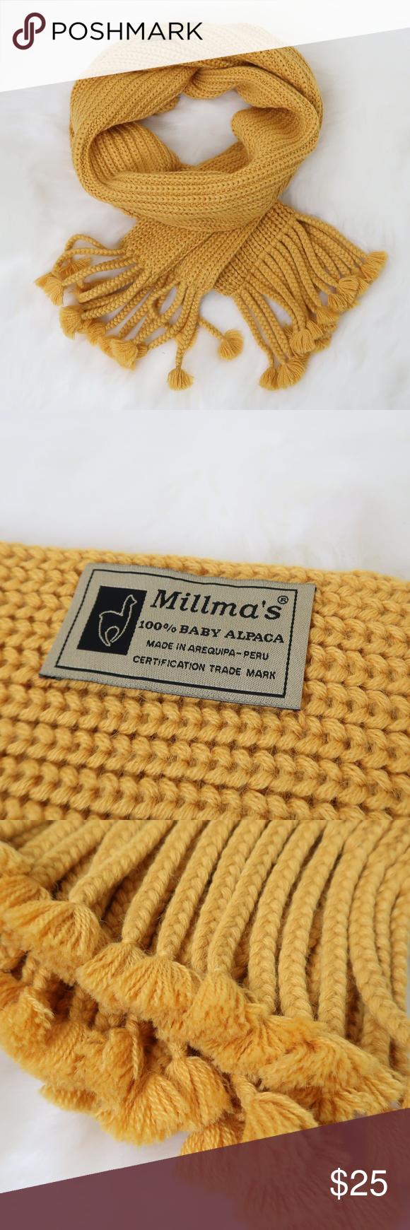 Photo of Millma Peruvian 100% Alpaca Winter Scarf Millma Peruvian 100% Alpaca Winter Scar…