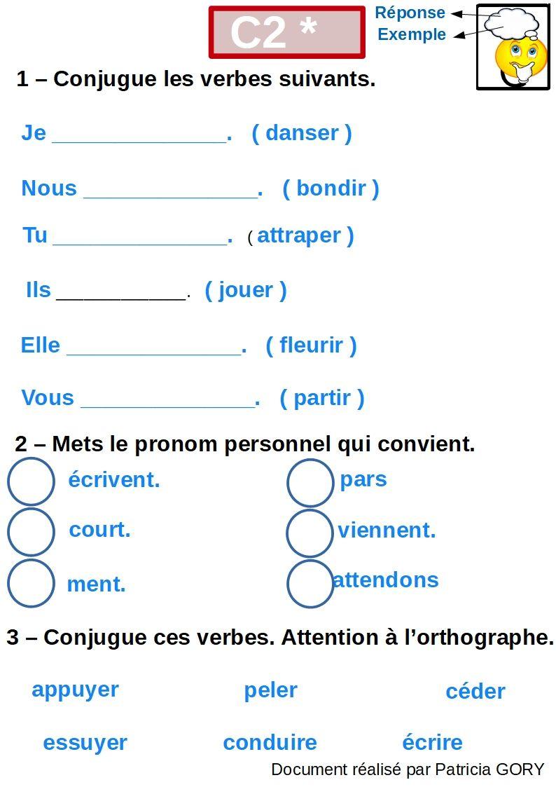 Le Verbe Et La Conjugaison Aide Pour Apprendre Conjugaison Apprendre Le Francais Verbe