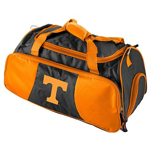 Orange Black Tennessee Volunteers Duffle Bag Team Logo On Front Polyester  -- Click image for 57132d3044
