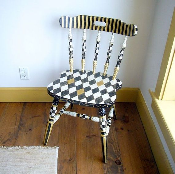 funky painted dining chairs