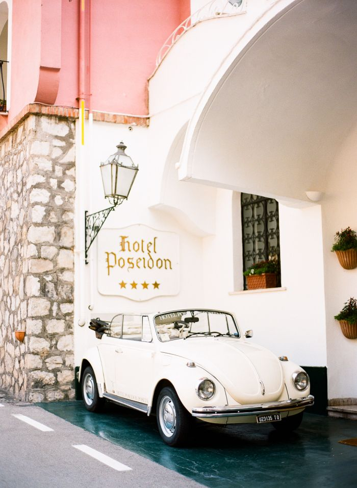 Volkswagen Bug At The Hotel Poseidon In Positano Italy In 2018