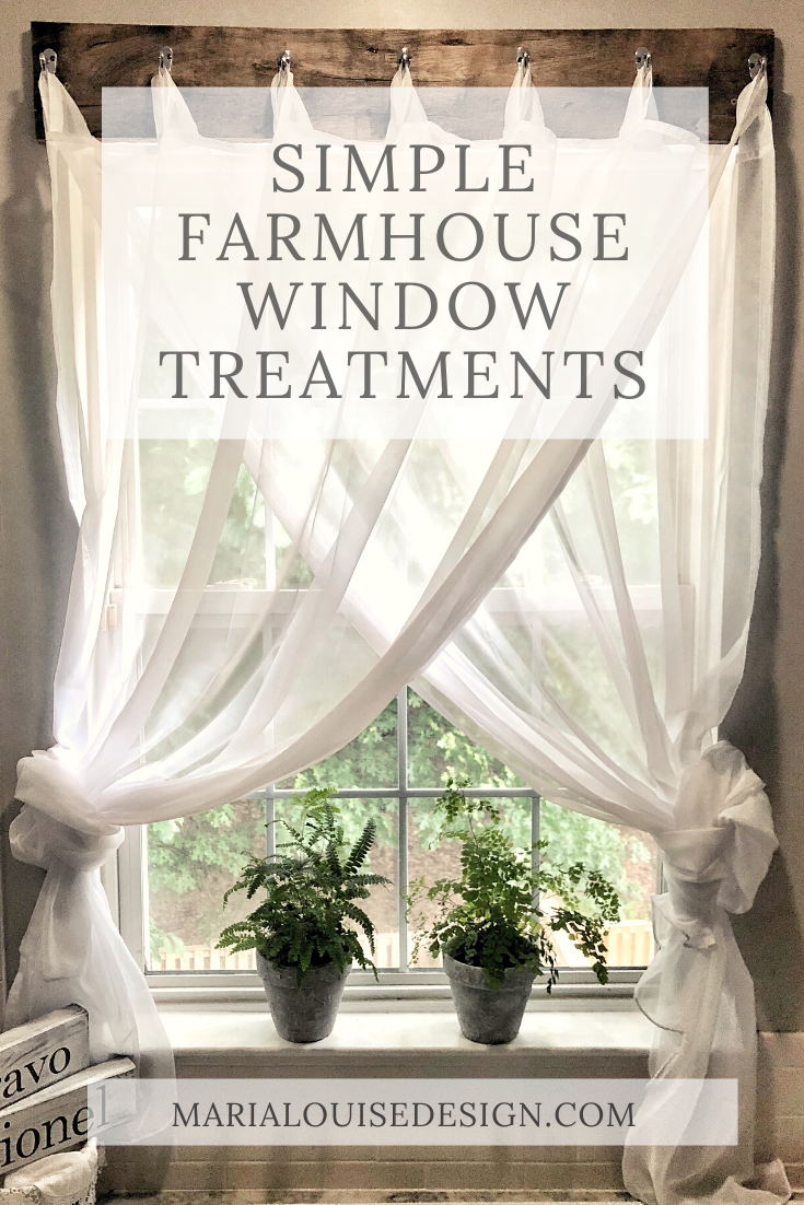 Simple Farmhouse Window Treatments
