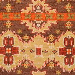 Hand Woven Brown Agora Hard Twist Wool Rug 8 X 11 Wool Area Rugs Rugs Hand Weaving