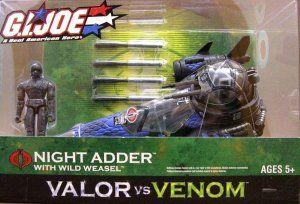 Gi Joe Vehicle Cobra Night Adder V2 Blue Wild Weasel 2004 Valor Vs Venom Misb Gi Joe Vehicles Gi Joe Cobra