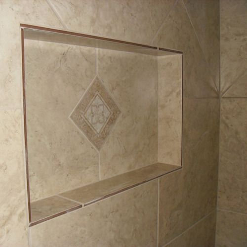 Shower Shelves, Tile Installation, Tiles