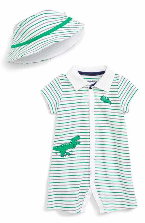 d59f7ad64e4b Little Me Dino Roar Romper   Hat Set (Baby Boys)