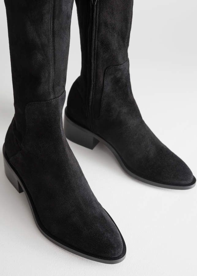 f8999e513b3 And other stories Suede Thigh High Boots