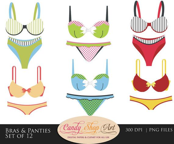 ed419c6d75 Instant Download - Bras and Panties Clip Art