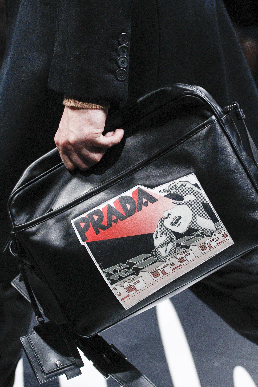 5da451c32467 Prada Spring 2018 Menswear Fashion Show | Bags for manly men | Prada ...