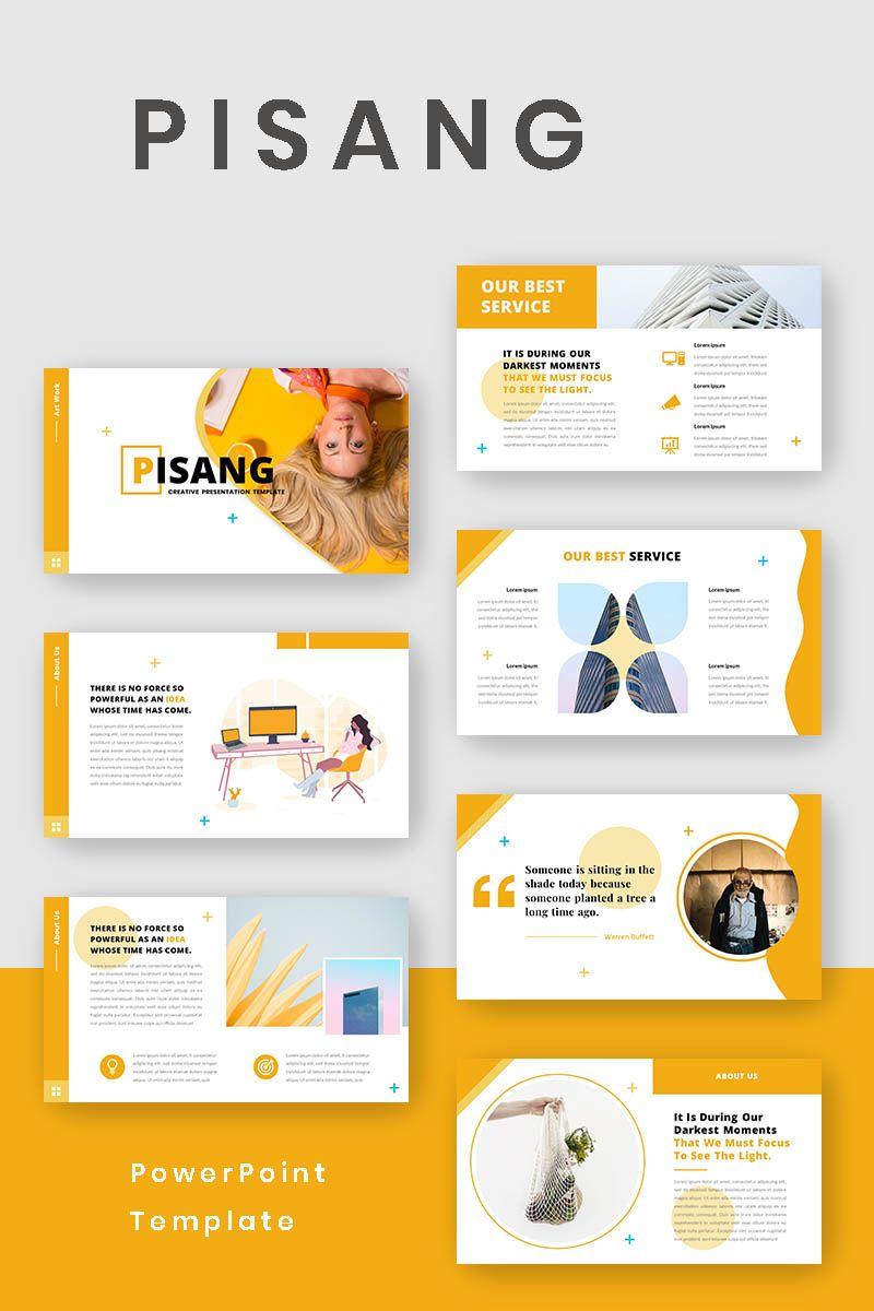 Pisang Powerpoint Template Desain Bisnis Presentasi Desain