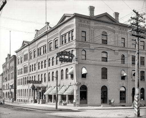 Circa 1910 St James Hotel Utica New York Still Running I