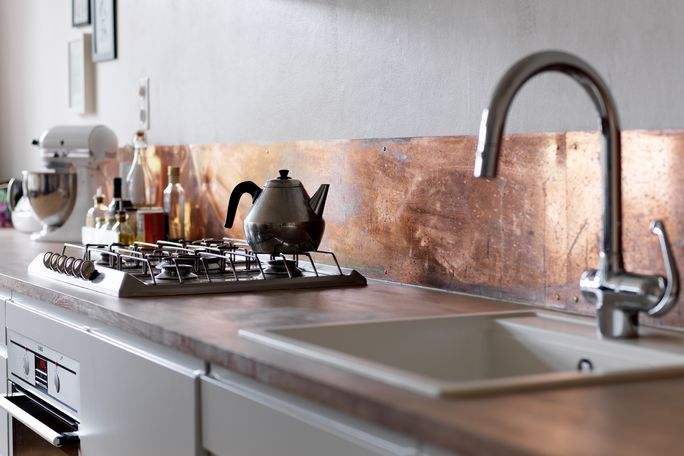 Mary Made This With Images Kitchen Splashback Copper Kitchen Backsplash Kitchen Inspirations