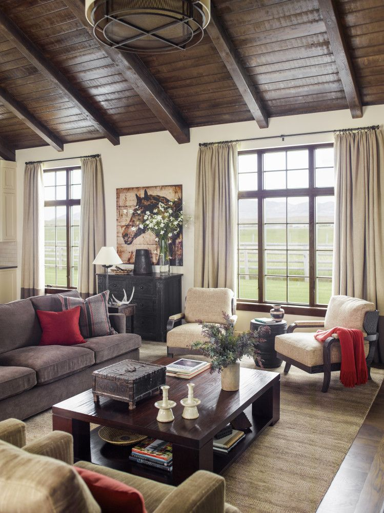 Ranch House Addition Home Design Ideas Pictures Remodel And Decor: Diamond O Madison Ranch: Living Room By Kylee Shintaffer