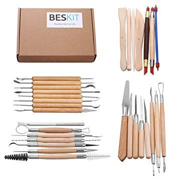 15pc Arts Crafts Clay Sculpting Tools Set Pencil Kit Pottery Ceramics Wooden Handle Modeling Clay Tools Modeling Carving Tools Pottery & Ceramics