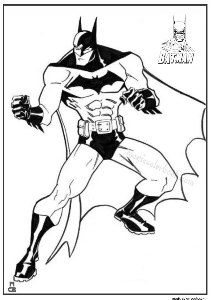 Pin by Magic Color Book on Batman Coloring Pages | Pinterest ...