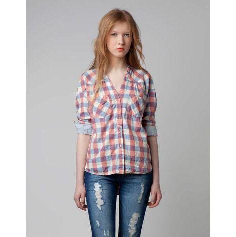 Camisa xadrez Bershka - CAIXEIRO VIAJANTE  http://caixeiroviajante.tanlup.com/product/473655/camisa-xadrez-bershka