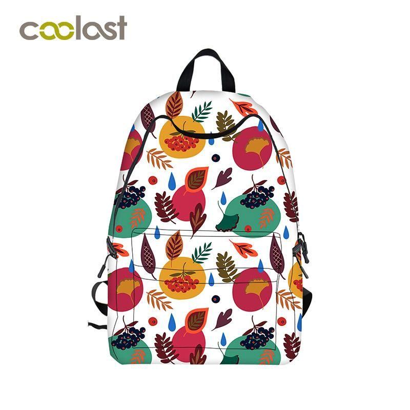 c103b12f3263  Visit to Buy  Colorful Fresh Flower Backpack Women Printing School Bag  mochilas Men Travel