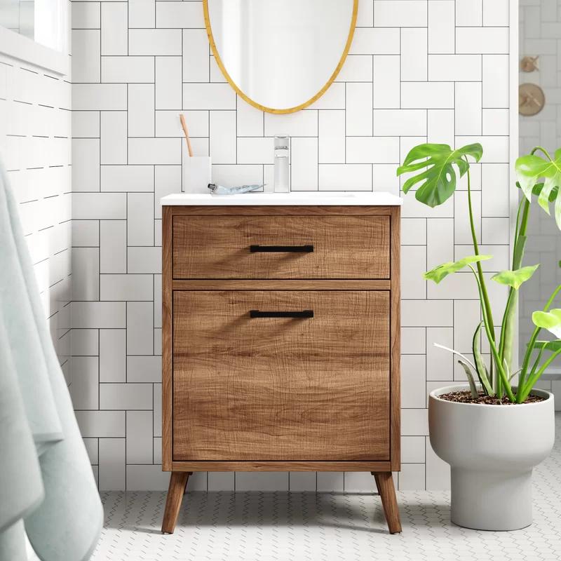 Joel 24'' Single Bathroom Vanity in 2020 | 24 inch ...