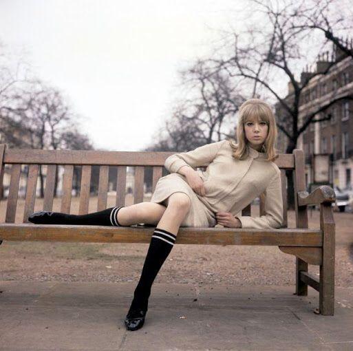 Pattie Boyd Winter Fashion In The 80 S Knee High Socks
